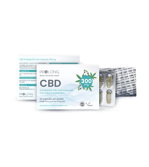 Prolong CBD Oral Capsules 300mg