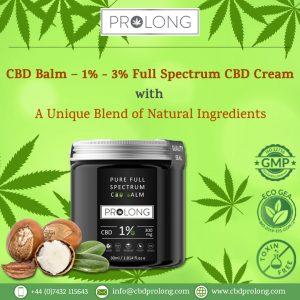 CBD Balm 1% 3% Full Spectrum CBD Cream With A Unique Blend of Natural in