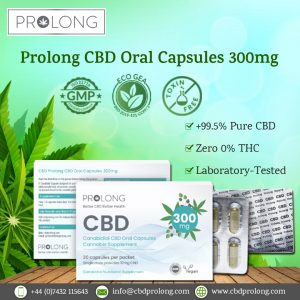 Prolong CBD Oral Capsules 300mg