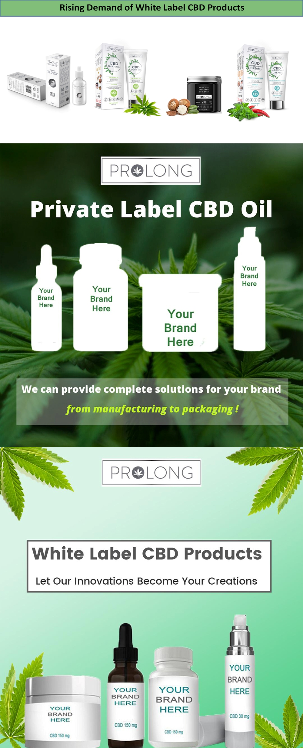Rising Demand of White Label CBD Products